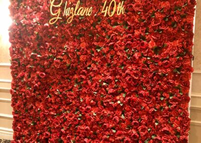Red Flower Wall Rental Jacksonville
