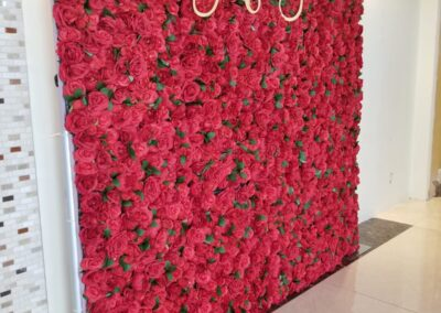 Red Flower Wall Rental Knoxville