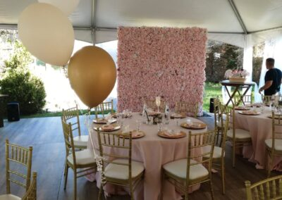 flower wall & Balloon Decoration
