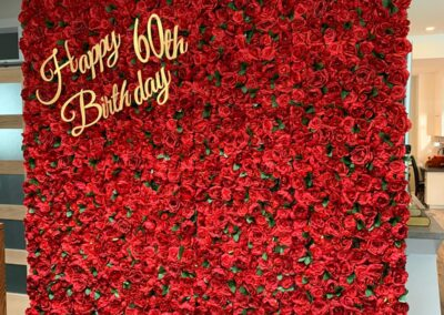 Red Flower Wall Rental