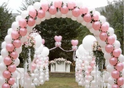 Balloon Arch Silver Spring