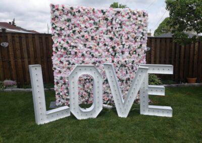 Pink Flower wall Spokane
