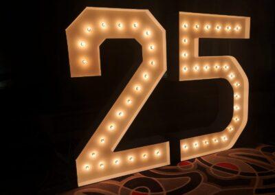 Marquee Numbers Rental